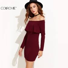 colrovie long sleeve dress womens clothing winter dresses women