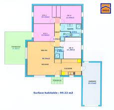plan de maison plain pied 4 chambres plan de maison individuelle plain pied