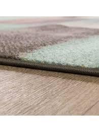 paco home designer teppich modern wohnzimmer farbverlauf karo muster pastell grün gelb lila klingel