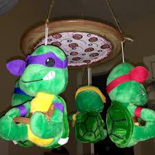 Ninja Turtle Themed Bathroom by Teenage Mutant Ninja Turtle Static Pizza Mobile For Baby Nursery