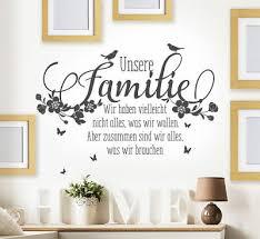 wandtattoo wohnzimmer flur familie zusammen lachen freunde