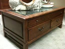 bob timberlake rectangular coffee table w display glass map table