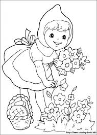 Little Red Riding Hood Coloring Pages On Book Within