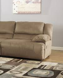 Hogan Mocha Reclining Sofa Loveseat by Buy Hogan Mocha Wall Raf Recliner By Signature Design From Www