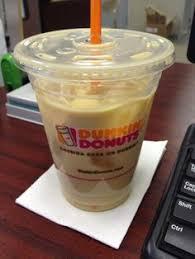 Dunkin Iced Coffee 1 Cream Sugar Vanilla And Caramel Shot