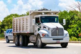 100 Kenworth Dump Truck Quintana Roo Mexico May 18 2017 White