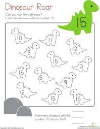 Kindergarten Math Worksheets Number 15 Coloring Page
