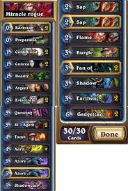 Edwin Vancleef Deck Budget by Help Me Revise My Budget Miracle Rogue Hearthdecklists