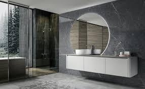 led lichtspiegel badspiegel rund bova mit spiegelheizung 130 x 118 cm