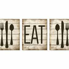 Large Wooden Fork And Spoon Wall Hanging by Black Kitchen Wall Decor Large Fork Spoon Wall Decor Eat Sign