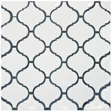 Home Depot Merola Penny Tile by Merola Tile Metro Lantern Glossy White 9 3 4 In X 10 1 4 In X 6