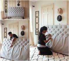 Make a Diamond Tufted Headboard for Your Bed
