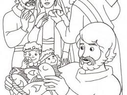 Jesus Feeds 5000 Coloring Pages 46 Best Bible