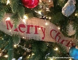 DIY Burlap Christmas Garland Tree Wrap
