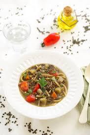 soupe de lentilles et pâtes à l italienne pasta e lenticchie