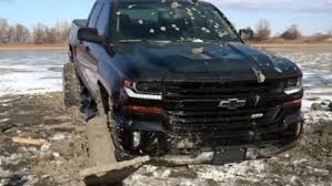 Brand New Truck Stuck, Frozen In Mud After Illegal Four-wheeling ...