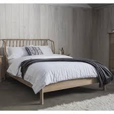 Alpine Super King Oak Bed Frame