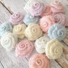 5 Pastel Burlap Flowers Wedding Decorations DIY Rustic Country Decoration Shabby Chic Ideas