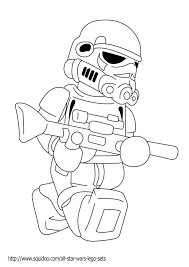 Star Wars Coloring Pages Stormtrooper Lego Kid Crafts For