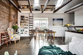 100 Attic Apartments A Gorgeous Attic Apartment With A Brick Wall Daily Dream Decor