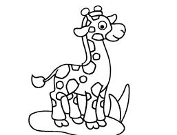 Dibujos Para Colorear Animales Del Zoológico Jirafa Dibujos Para