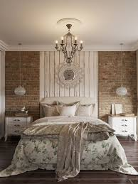 French Country Bedroom Decorating Brilliance With Exposed Wall