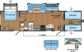 Travel Trailer Floor Plans With Bunk Beds by Jayco Jay Flight 31 U0027 Quad Bunk House Trailer Tcrv