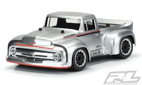 100 1956 Ford Truck ProLine F100 ProTouring Street Clear Body RC