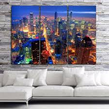 Big Ang Mural Chicago by Chicago Bright Nite Skyline On Canvas U2013 Holycowcanvas