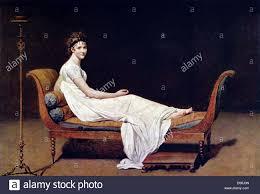 Jacques Louis David Portrait Of Madame Recamier 1800