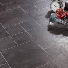 libretto black slate tile effect laminate flooring 1 86 m皺 pack