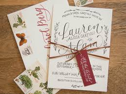 Rustic Hand Lettered Wedding Invitations By Bright Room Studio Oh So Beautiful Paper