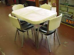 VINTAGE RETRO 1950S ARVIN METAL CHROME DINETTE SET TABLE AND CHAIRS