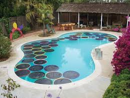 DIY Solar Pool Warmers Look Like Lily Pads