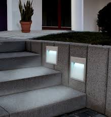 Stair Outdoor Recessed Lighting Best Throughout Wall Lights