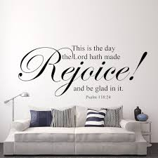 Scripture Wall Decal This Is The Day Lord Hath Made Rejoice Bible Verse Vinyl Sticker 13 X 34 S In Stickers From Home Garden On