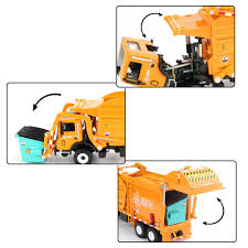 100 Garbage Truck Tab 143 Waste Management Toy Diecast Metal Model Kids Boy