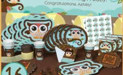 Baby Shower Owl Theme Ba Bird Party Decorations Regarding 493 X 409