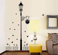 removable modern minimalist style black lights butterfly wall