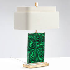 Torchiere Table Lamp Base by Couture Malachite Table Lamp Candelabra Inc