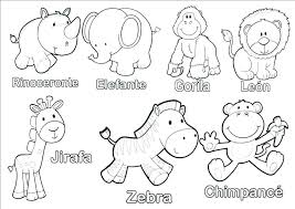 Cute Animals Coloring Pages Baby Good Printable Animal
