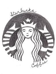 How To Draw A Starbucks Coffee Logo Drawing By Weirdasiankittygirl On
