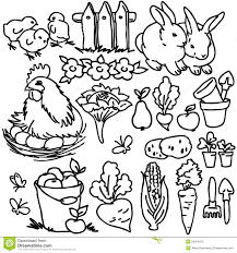 Stock Photos Coloring Book Project Awesome Farm Animals