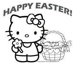 Free Religious Easter Coloring Pages To Print Online For Kitty Sheets