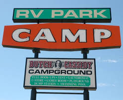 Butch Cassidy RV Park Campground Sign