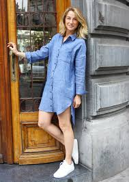 linen shirt dress made in portugal with love by made u0026 more