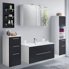 bad waschtisch kreta 1 auszug 100 cm breit schwarz glänzend