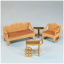 Tootsie Toy Dollhouse Living Room Furniture 1930s 1/2
