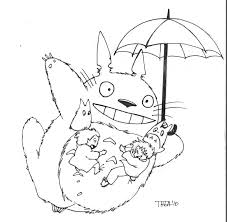 Totoro Coloring Pages My Neighbor Fresh Anime For Kids Free 900×1241