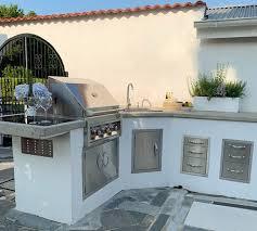 integrierbare edelstahl outdoorküche mit modulen